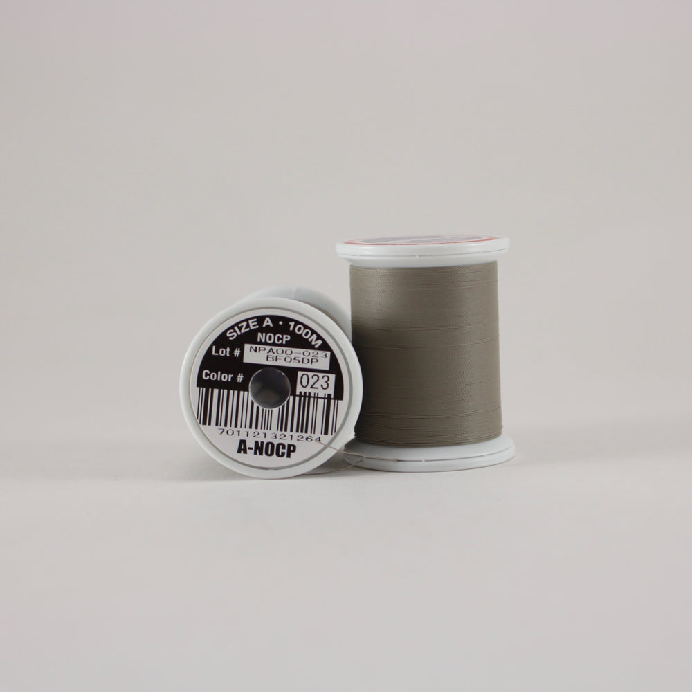 Fuji Ultra Poly NOCP rod wrapping thread in BC Grey #023 (Size A 100m spool)