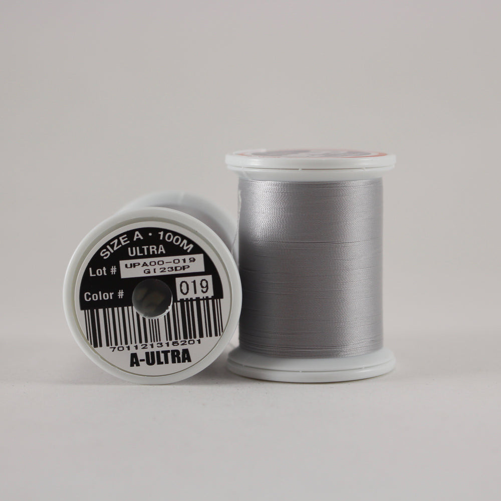 Fuji Ultra Poly rod wrapping thread in Light Grey #019 (Size A 100m spool)