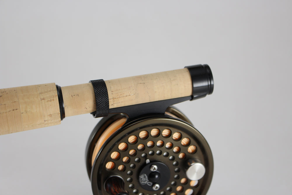 Garrison-Style slide band reel seat with cork insert