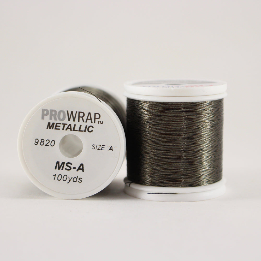 ProWrap metallic thread Gun Smoke #9820 (size A 100yd. spool)