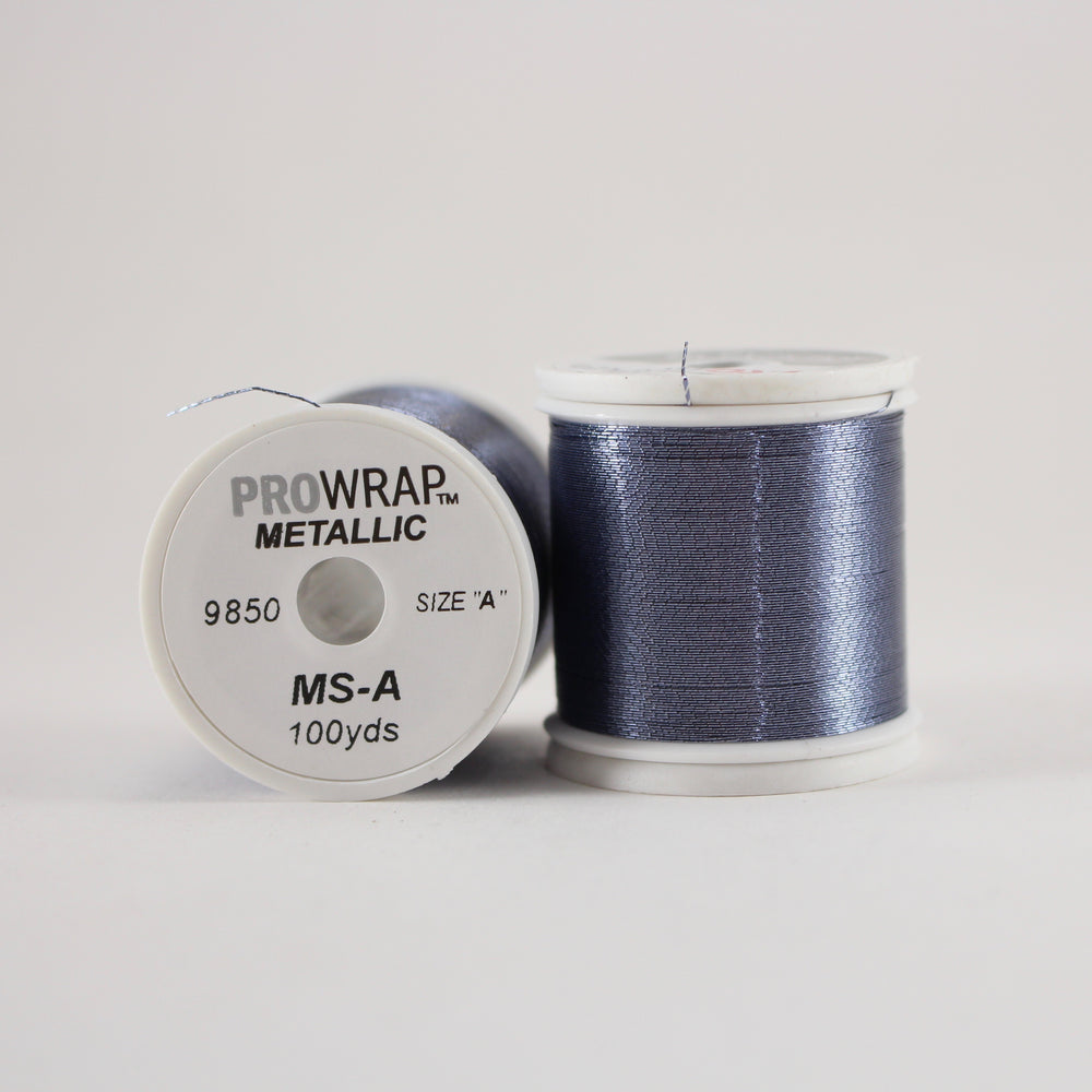 ProWrap metallic thread Blue Steel #9850 (size A 100yd. spool)