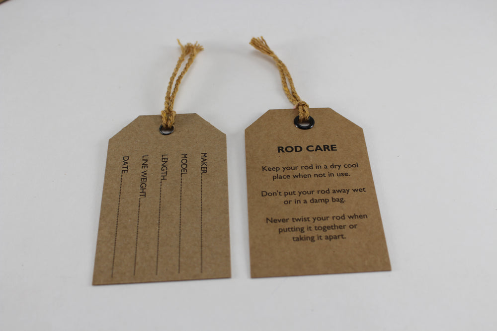 Fly rod hanger tags (set of 2)