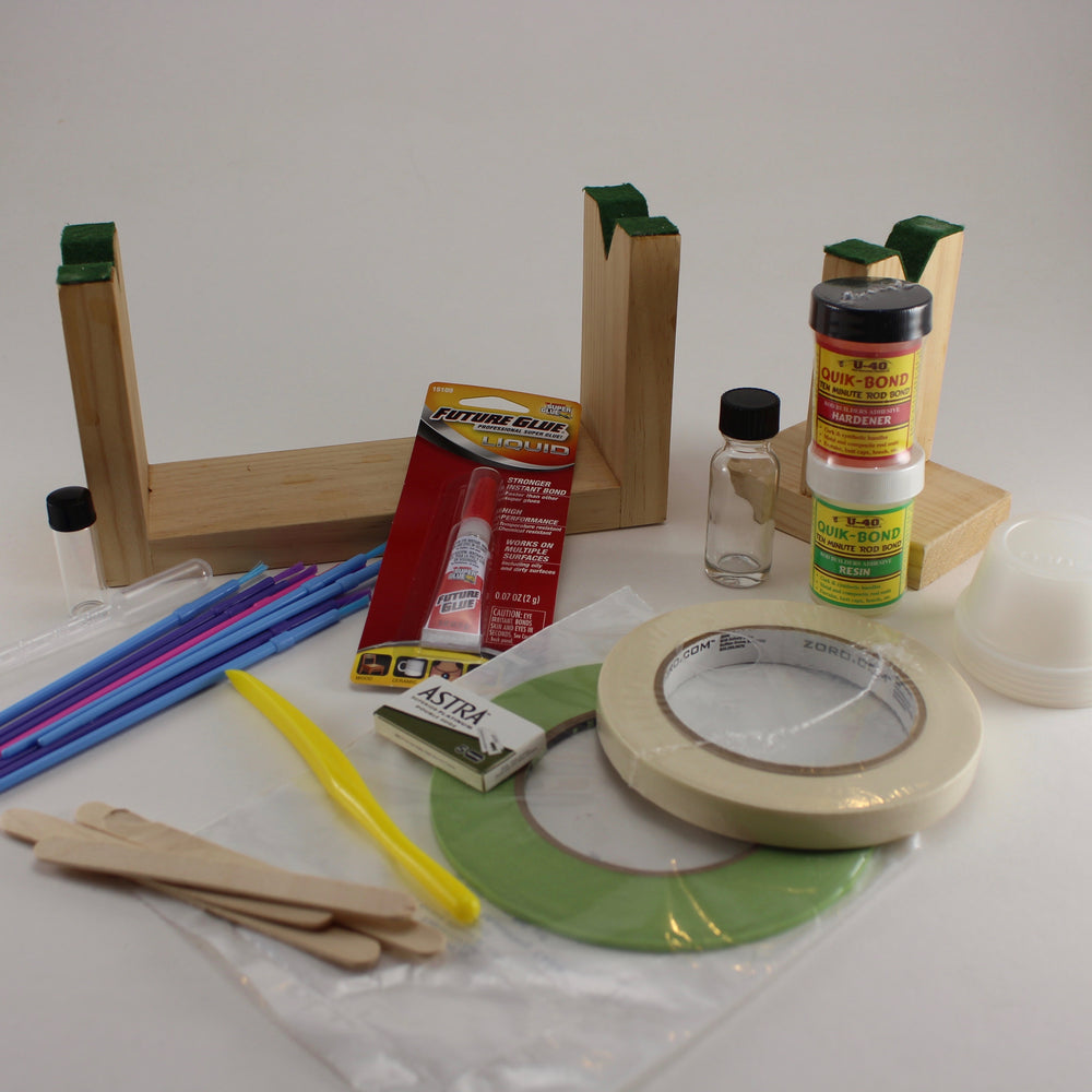Fiberglass and bamboo tool and finish kit