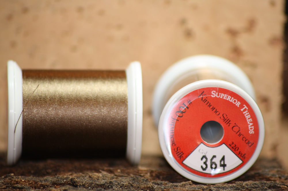 Kimono silk thread #364 Mississippi Mud - Proof Fly Fishing