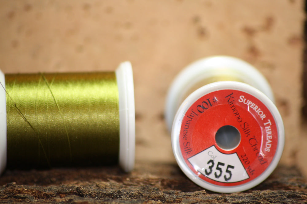 Kimono silk thread #355 Mossy Oak - Proof Fly Fishing