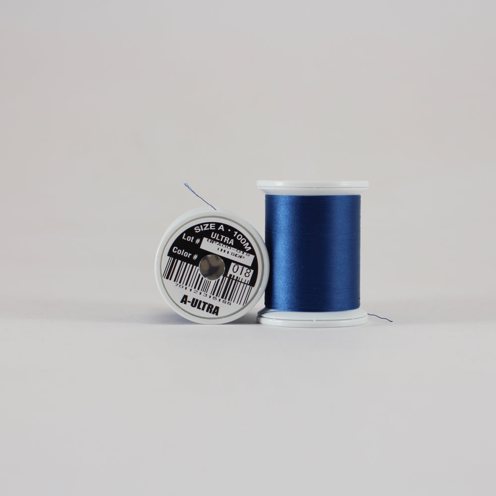 Fuji Ultra Poly rod wrapping thread in Navy #018 (Size A 100m spool)