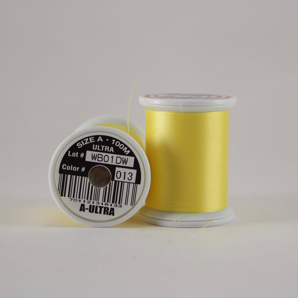 Fuji Ultra Poly rod wrapping thread in Yellow #013 (Size A 100m spool)