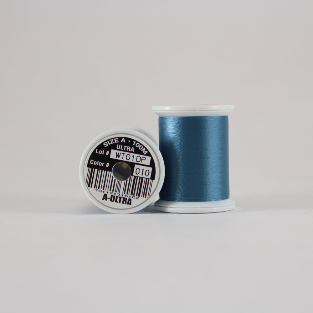 Fuji Ultra Poly rod wrapping thread in Blue Dunn #010 (Size A 100m spool)