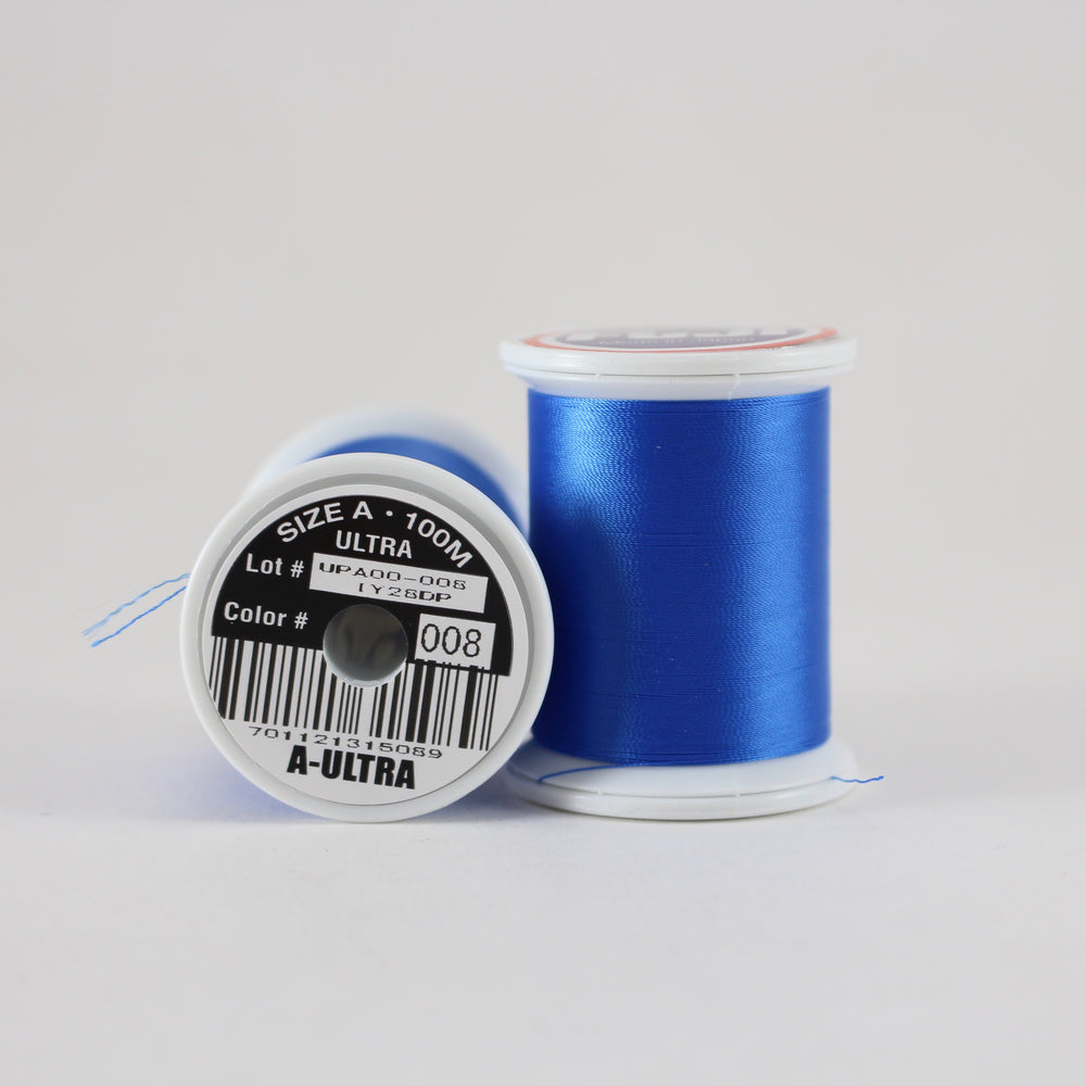 Fuji Ultra Poly rod wrapping thread in Dark Blue #008 (Size A 100m spool)