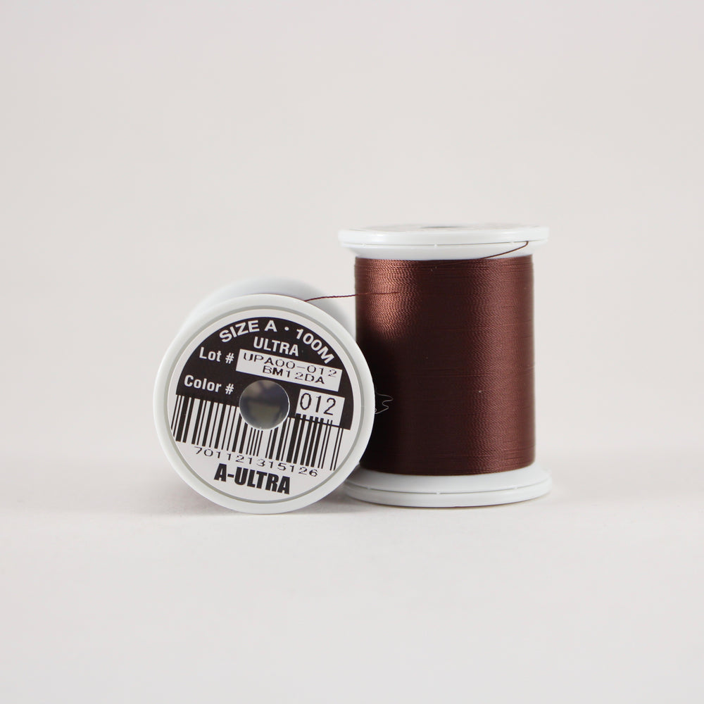 Fuji Ultra Poly rod wrapping thread in Dark Brown #012 (Size A 100m spool)