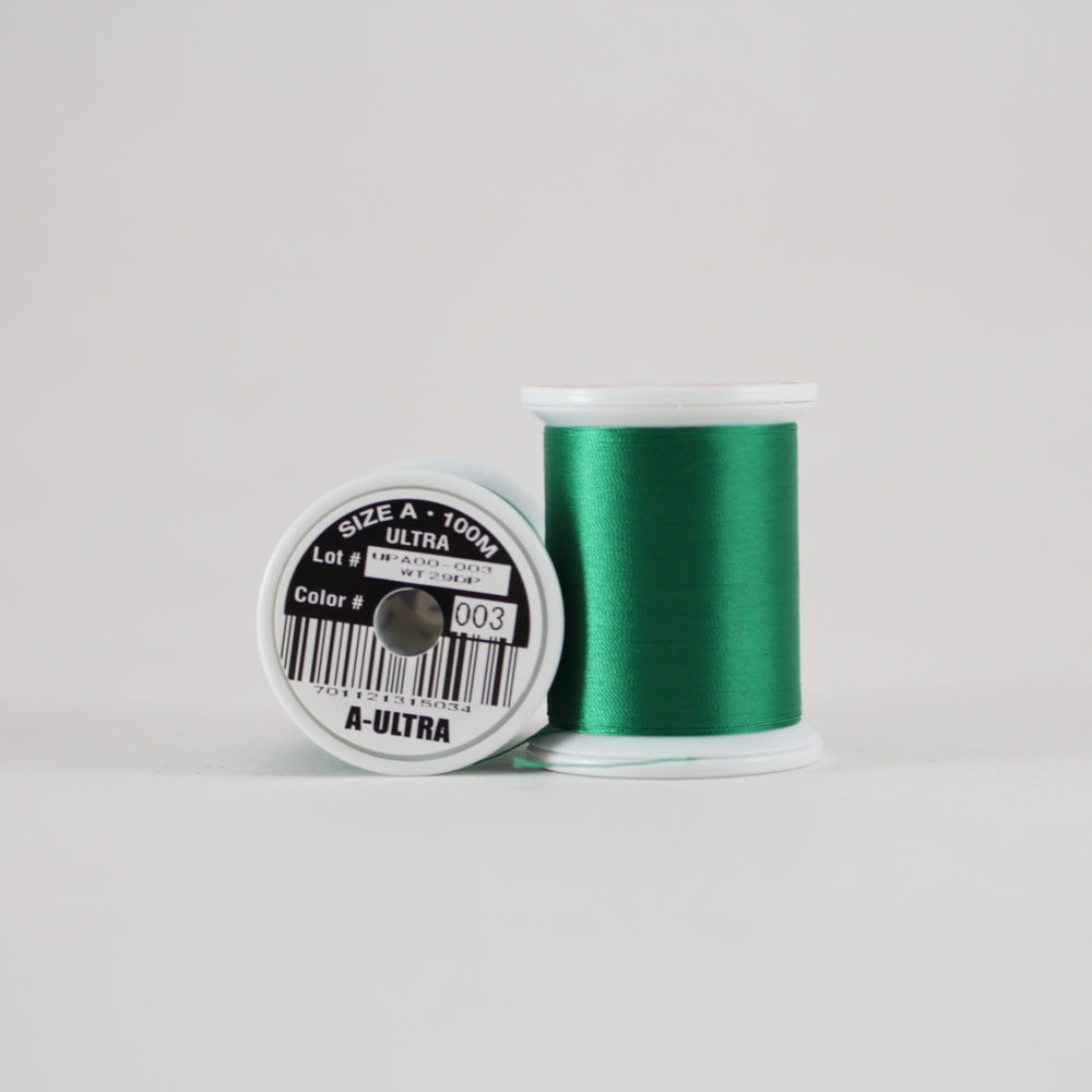 Fuji Ultra Poly rod wrapping thread in Dark Green #003 (Size A 100m spool)