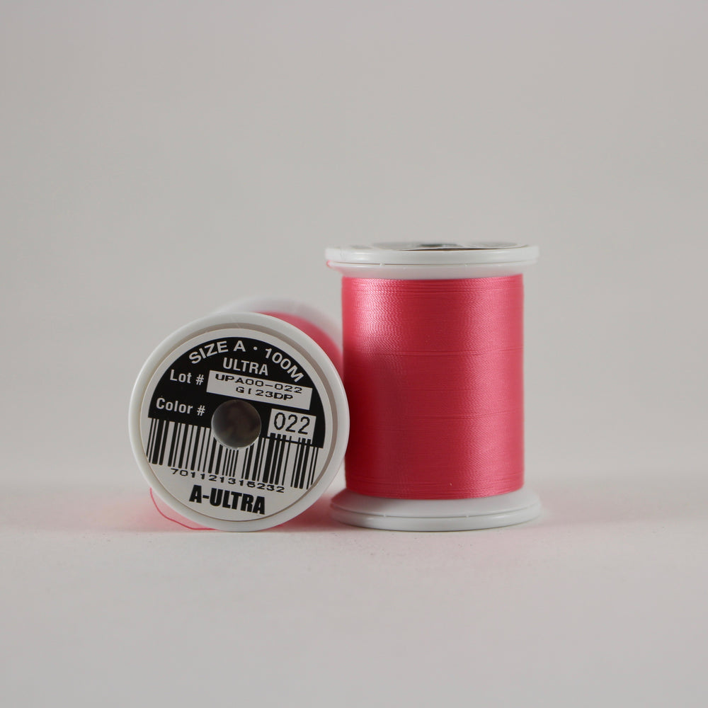 Fuji Ultra Poly rod wrapping thread in Hot Pink #022 (Size A 100m spool)