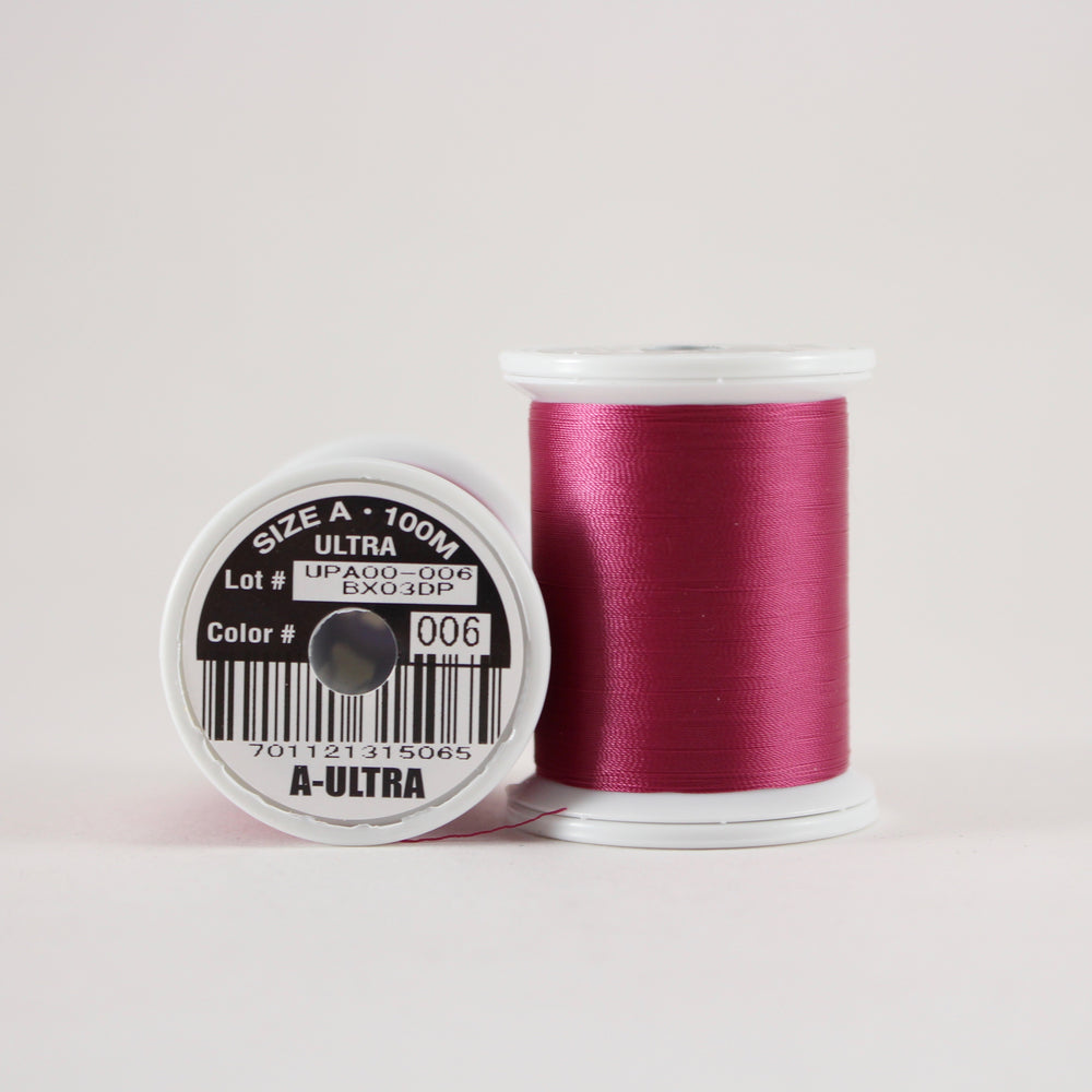 Fuji Ultra Poly rod wrapping thread in Maroon #006 (Size A 100m spool)