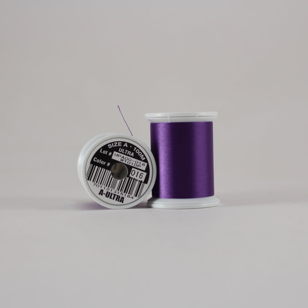 Fuji Ultra Poly rod wrapping thread in Purple #016 (Size A 100m spool)