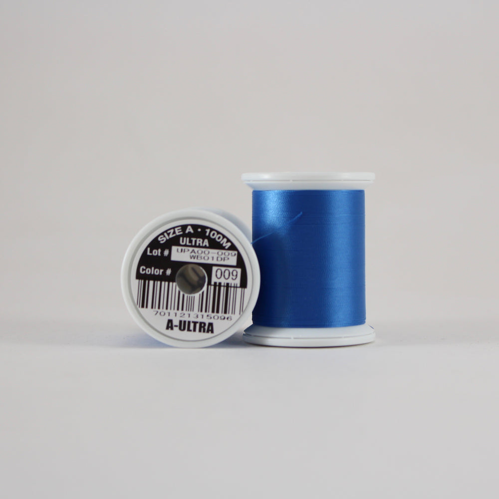 Fuji Ultra Poly rod wrapping thread in Royal Blue #009 (Size A 100m spool)