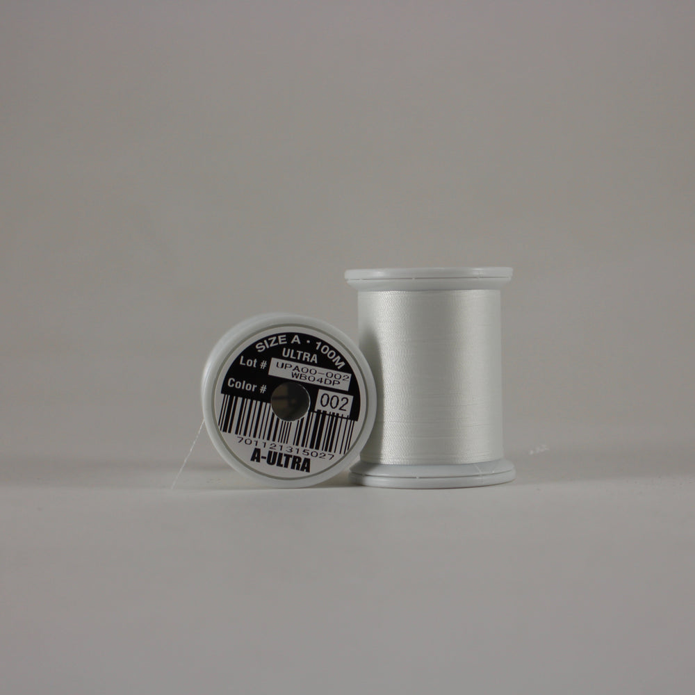 Fuji Ultra Poly rod wrapping thread in White #002 (Size A 100m spool)