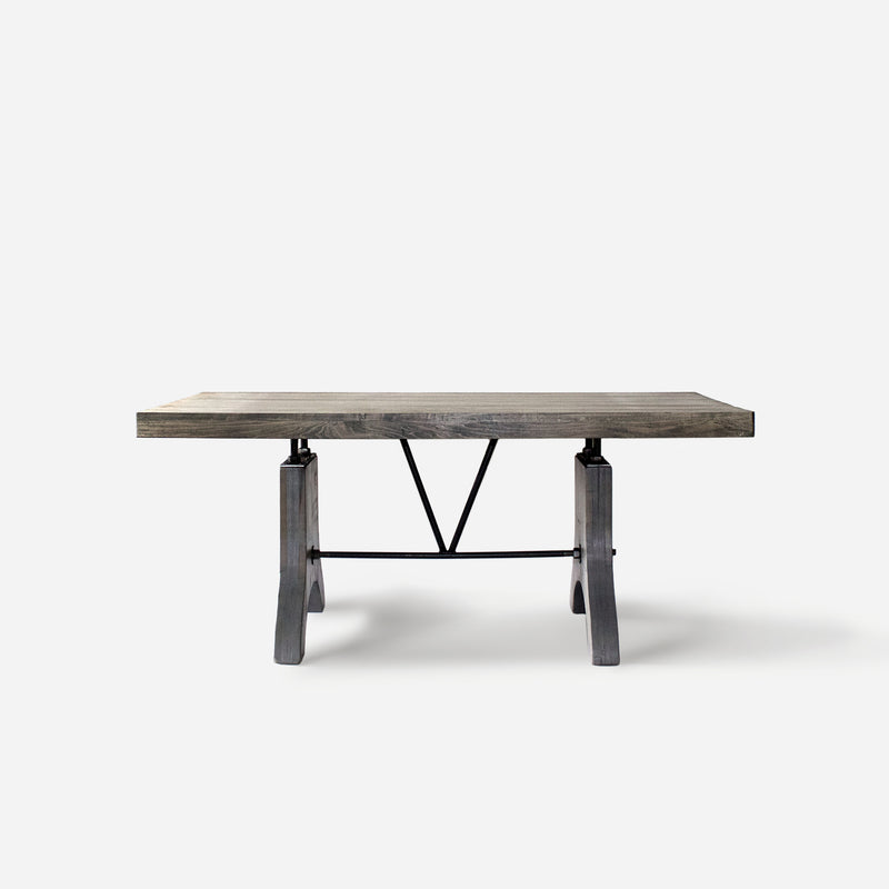 Dining Table No. 58 in Classic Gray w/ Wooden Legs