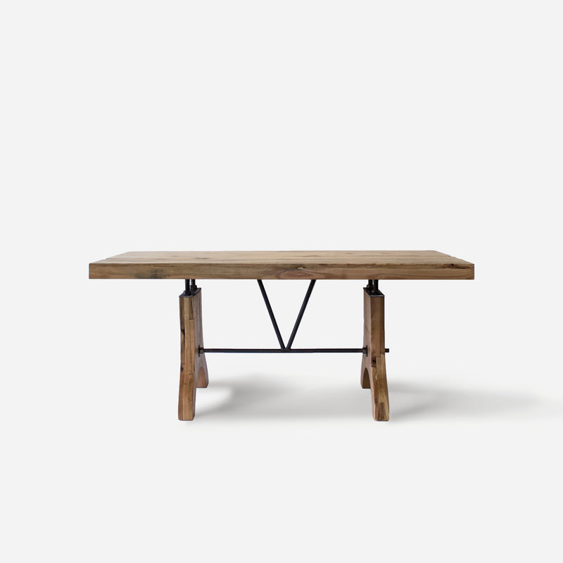 Dining Table No. 58. Red Oak in Honey Color w/ Wooden Legs
