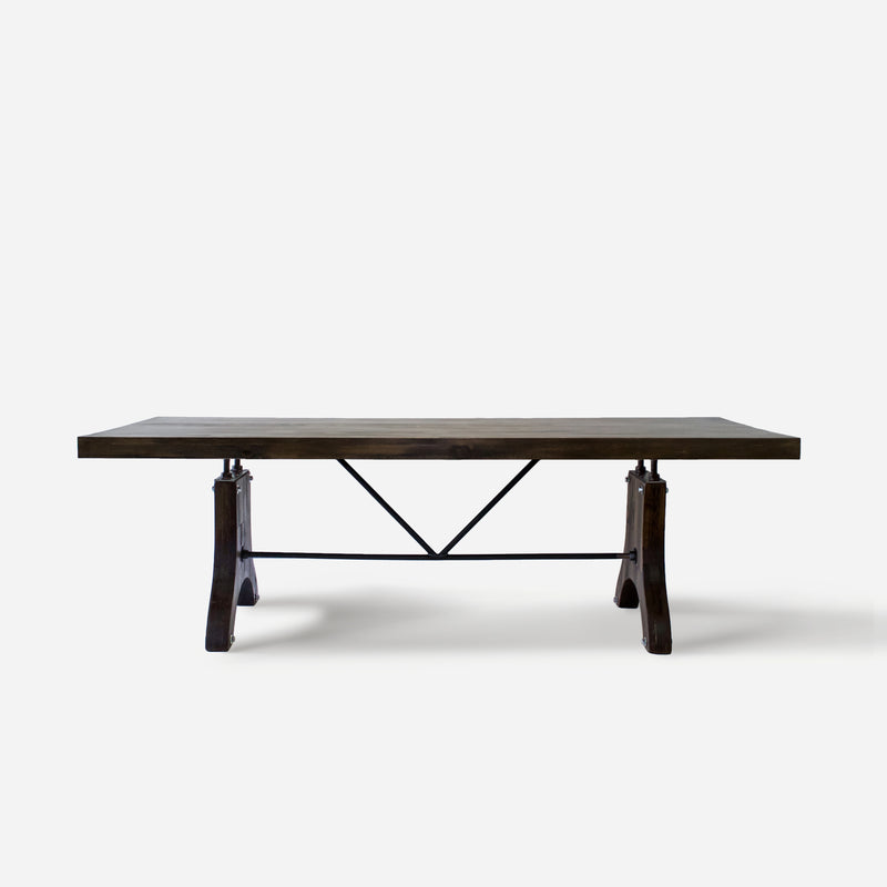 Dining Table No. 58. Dark Walnut w/ Wooden Legs