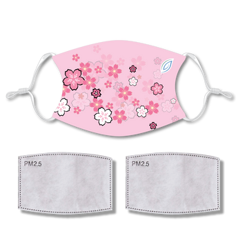 Sublimated Face Mask BLOSSOM with 2 filters & strap adjuster