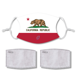 Sublimated Face CALIFORNIA with 2 filters & strap adjuster