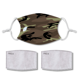 Sublimated Face CAMO with 2 filters & strap adjuster