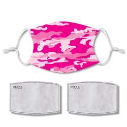 Sublimated Face PINK CAMO with 2 filters & strap adjuster