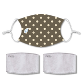 Sublimated Face POLKA DOTS with 2 filters & strap adjuster