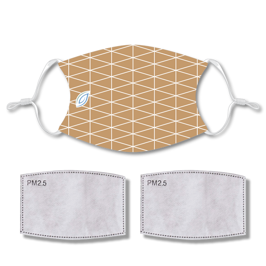 Sublimated Face Mask HEXAGON with 2 filters & strap adjuster