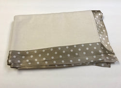 Organice Fleece Cotton Blanket with Polka Dots Silk Straight Trim