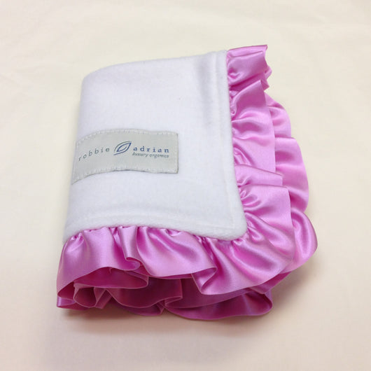 Ready to Ship Fleece Organic Baby Blanket with 1