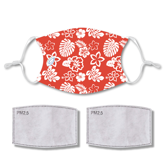 Sublimated Face Mask Island with 2 filters & strap adjuster