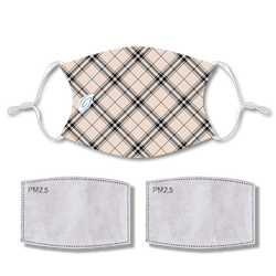 Sublimated Face Mask PLAID with 2 filters & strap adjuster