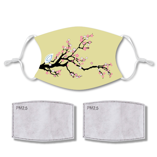 Sublimated Face Mask TREE with 2 filters & strap adjuster