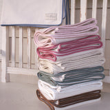 Fleece Organic Baby Blanket with Silk Piping - Robbie Adrian Luxury Organics