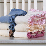 Baby gifts Organic cotton blanket with silk - Robbie Adrian Luxury Organics