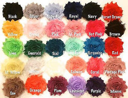 60pcs. Mix Soft Shabby Flowers~2.5-DIY hair bows, crafts, etc. - Sparkle For Less