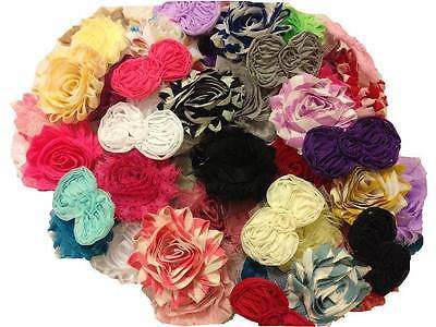 60pcs. Wholesale Bulk~Mix All Soft Shabby Flowers~1