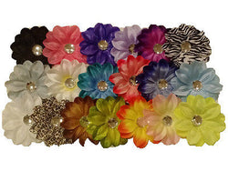 100pcs. Tropical Lily Flower Heads-DIY Hair Clips, Bouquets, Crafts, etc.-3.5