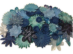 100pcs. Blue Flower Petals-DIY Hair Bows, Flowers for Weddings, etc. - Sparkle For Less