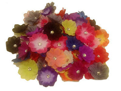 30pcs. Crystal Hibiscus Flower HeadsDIY Hair Bows-Bouquets-3