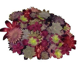 100pcs. Purple Flower Petals-DIY Hair Bows, Flowers for Weddings, etc. - Sparkle For Less