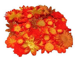 100pcs. Orange Flower Petals-DIY Hair Bows, Flowers for Weddings, etc.