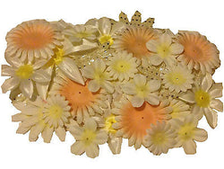 100pcs. Brown Flower Petals-DIY Hair Bows, Flowers for Weddings, etc. - Sparkle For Less