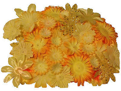 100pcs. Yellow Flower Petals-DIY Hair Bows, Flowers for Weddings, etc.
