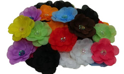 3pcs. Mix Beaded Flower Hair Clips-3