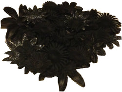 100pcs. Black Flower Petals-DIY Hair Bows, Flowers for Weddings, etc.