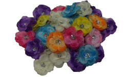 3pcs. Mix Glitter Edged Flower Hair Clips