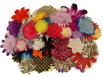 2 Ounce Flower Petals (130-150)pcs.-Mix of styles, colors and sizes-DIY Flowers - Sparkle For Less