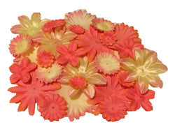 100pcs. Peach Flower Petals-DIY Hair Bows, Flowers for Weddings, etc.